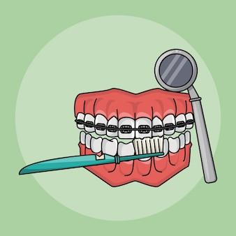 Zahnpflege-konzept