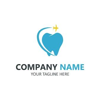 Zahnpflege-logo auf weißem hintergrund