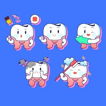 Zahnpflege und hygiene-konzept