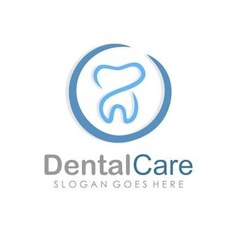 Zahnpflege und zahnmedizin logo geruhen vorlage