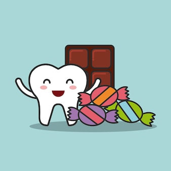 Zahnpflegedesign, grafik der vektorillustration eps10