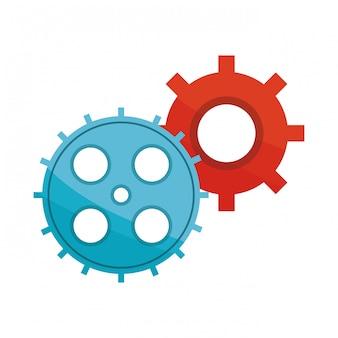 Zahnrad-finanz-symbol