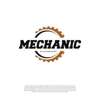 Zahnrad-logo entwirft vorlagenvektor, mechanikerlogosymbol, logosymbolikonenschablone Premium Vektoren
