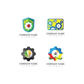 Zahnrad logo vorlage vektor icon illustration design