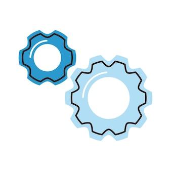 Zahnrad-maschineneinstellungen isoliertes symbol