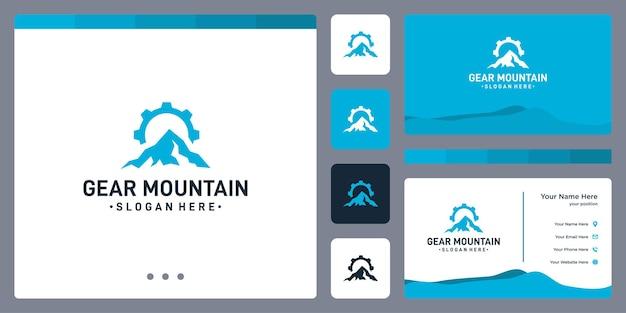 Zahnradlogo und berglogo. visitenkarten-design.
