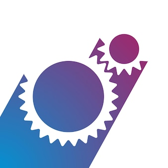 Zahnradsymbol vektor illustration zahnrad auto technologie logo im flachen stil