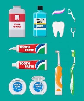 Zahnreinigungswerkzeuge. mundpflege-hygieneprodukte
