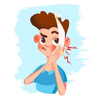Zahnschmerz kerl cartoon