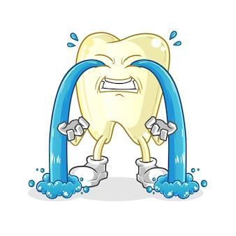 Zahnschreiender illustrationscharakter
