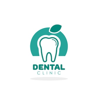 Zahnvektorlogo für zahnklinikschablone