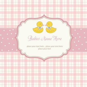 Zarte babys zwillinge dusche karte
