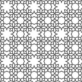 Zarte nahtlose muster im arabischen stil