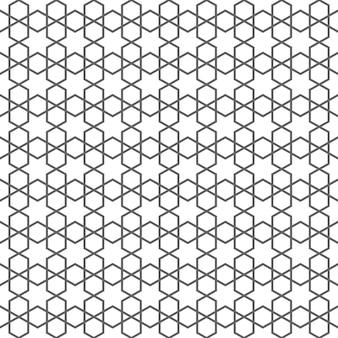 Zarte nahtlose muster im islamischen stil mit sternen