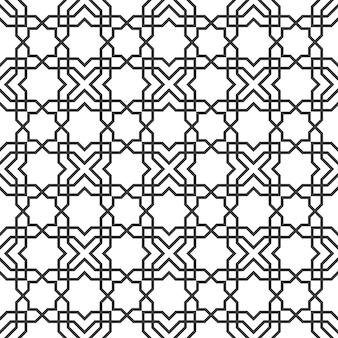 Zarte nahtlose muster im islamischen stil