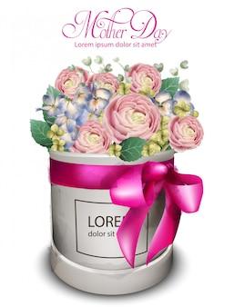 Zarte rosen bouquet aquarell