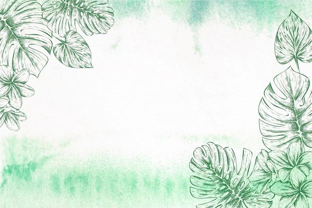 Zarter botanischer design-illustrationsrahmen