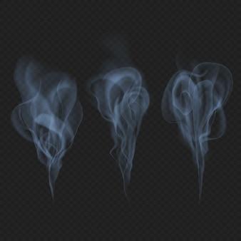Zarter realistischer rauch-, nebel- oder nebelwellen-transparenzeffekt. einfach auf zeichenfläche fallen lassen und genießen