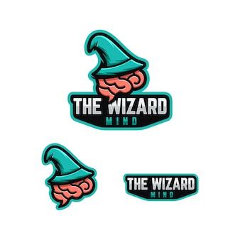 Zauberer geist logo konzept.