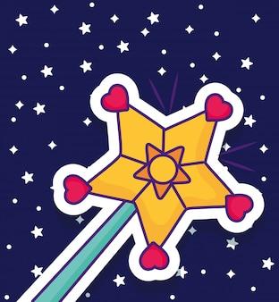 Zauberstab-symbol