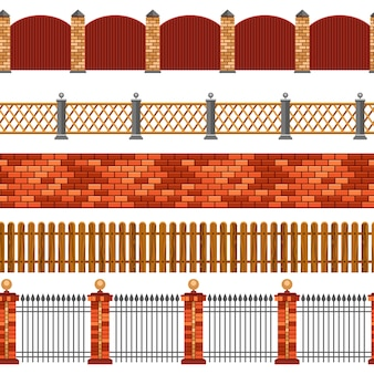 Zaun seamless border set