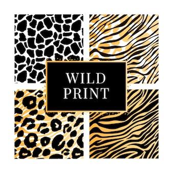 Zebra gold giraffe set dalmatiner muster, tierdruck