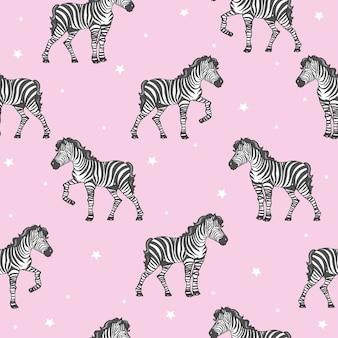 Zebra nahtlose muster