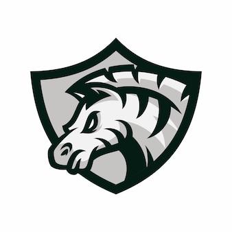 Zebra - vektorlogo / ikonenillustrationsmaskottchen