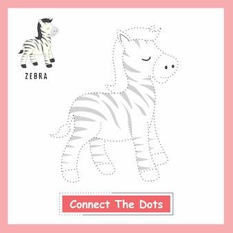 Zebra verbinden die punkte