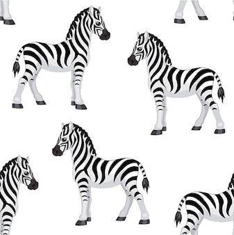 Zebramuster. nahtloses muster.