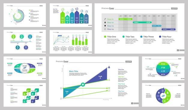Zehn business slide vorlagen set