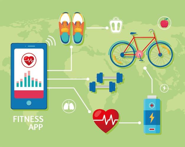 Zehn gesundheits-app-symbole