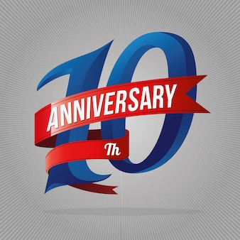Zehn jahre jubiläumsfeier logo.