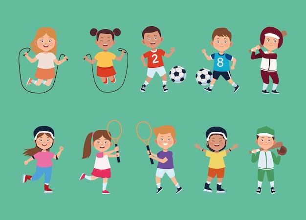 Zehn kinderaktivitäten