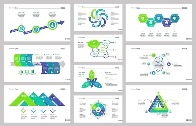 Zehn management slide vorlagen set