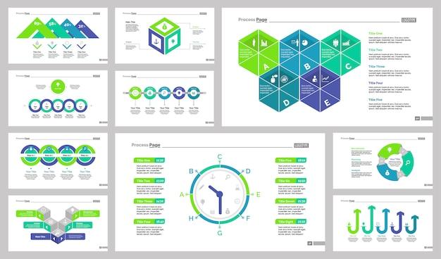 Zehn marketing slide vorlagen set