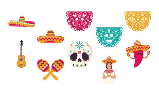 Zehn mexikanische ikonen