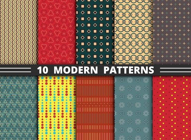 Zehn moderne muster