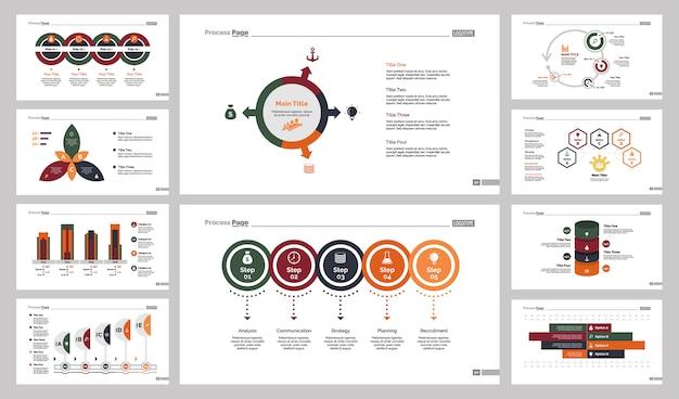 Zehn training charts slide templates set