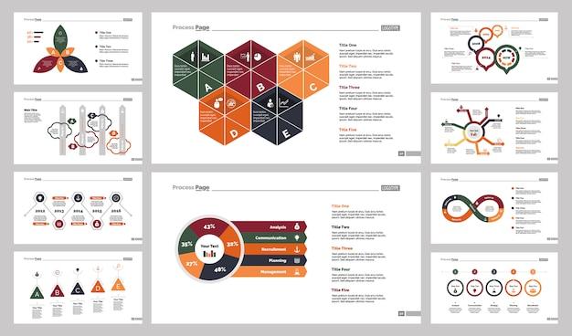 Zehn wirtschaft slide templates set