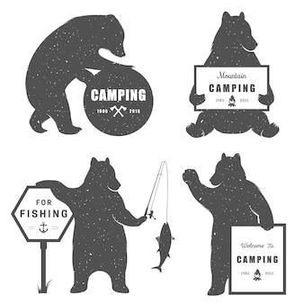 Zeichen bär camping