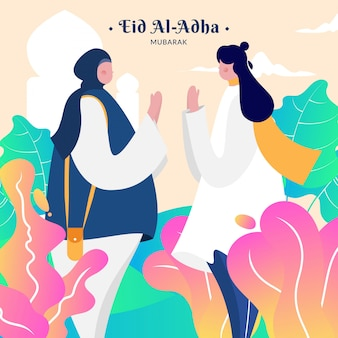 Zeichen für moslemischen feiertag eid al-adha