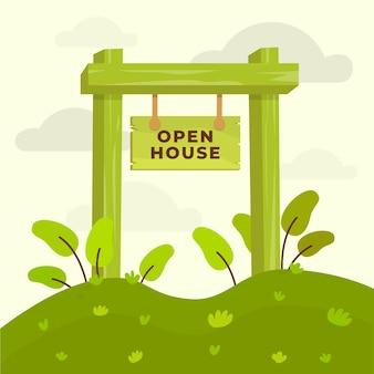 Zeichen für tag der offenen tür