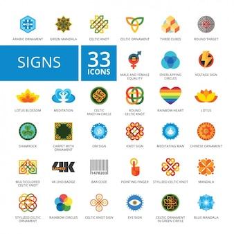 Zeichen-ikonen-sammlung