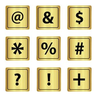 Zeichen tastatur metall