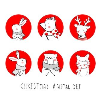 Zeichen weihnachten tier gesetzt