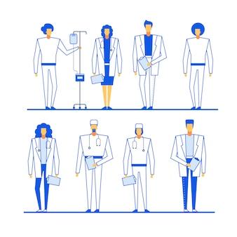Zeichensatz für professionelles medizinisches personal