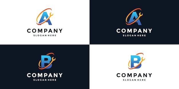 Zeichenschlüssel a und b logo-schlüssel