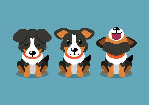 Zeichentrickfigur amerikanischer schäferhund posiert