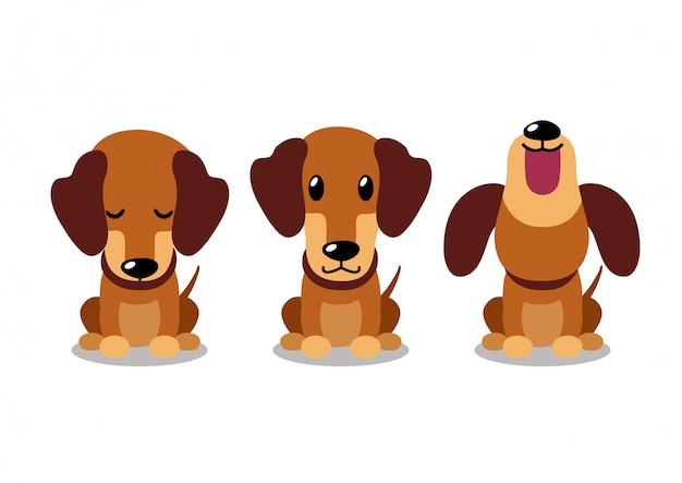 Zeichentrickfigur dackel hund posiert